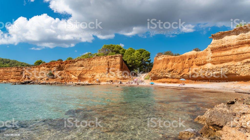 Ibiza, Sa Caleta beach stock photo