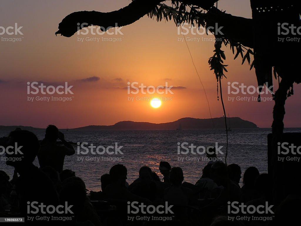 Ibiza sunset 1 royalty-free stock photo