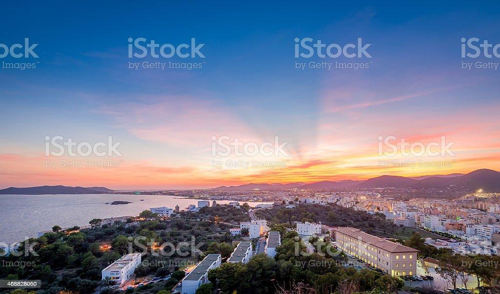 Ibiza sunset stock photo