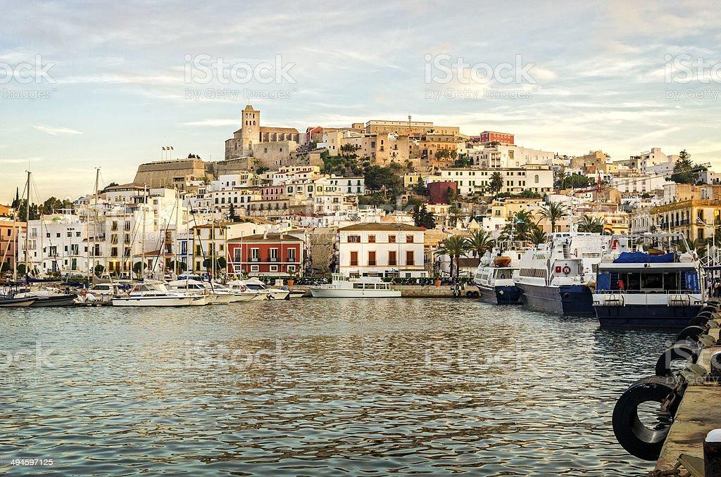Ibiza Town stock photo