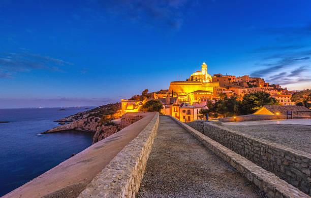 Ibiza - Way into Dalt Vila stock photo