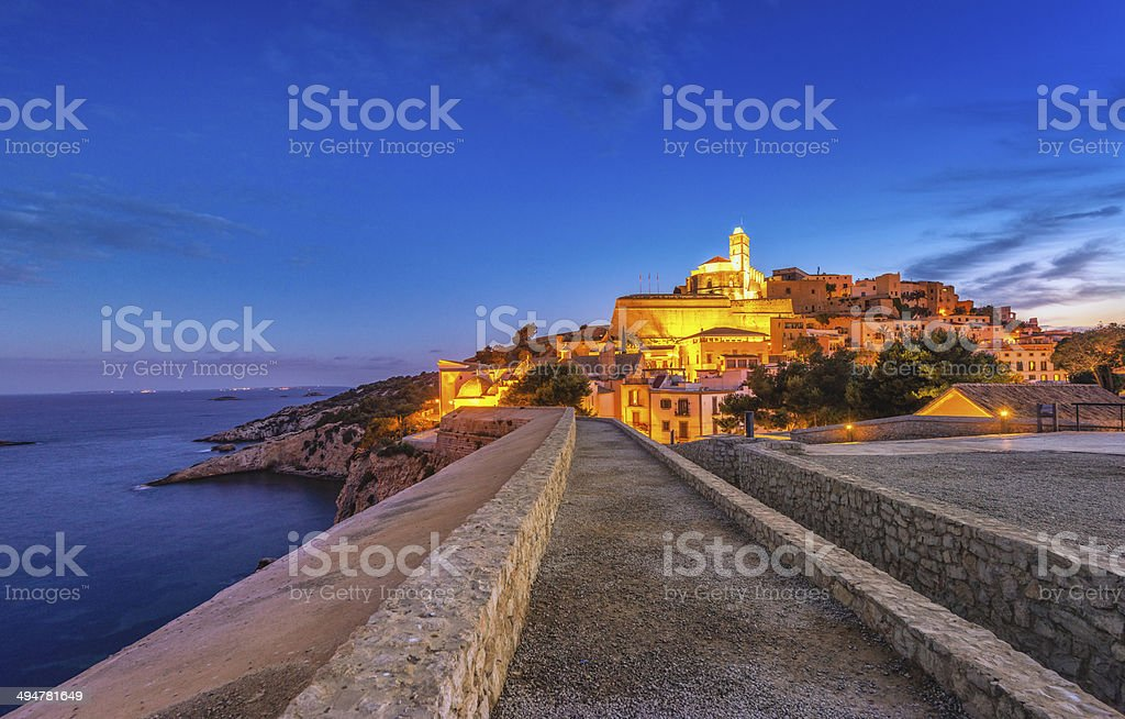 Ibiza-Way in Dalt Vila - foto stock