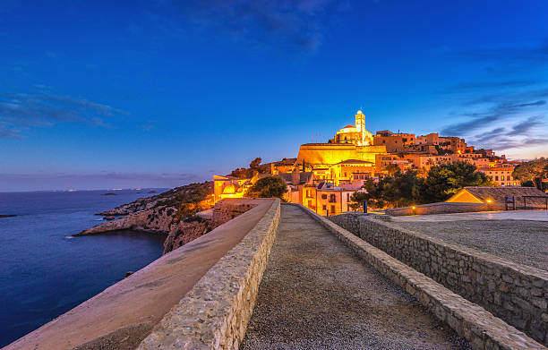 Ibiza - Way into Dalt Vila stock photo