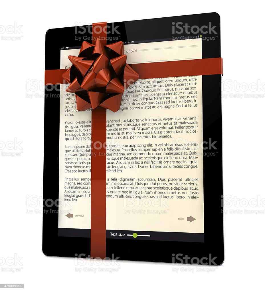 ibook gift stock photo