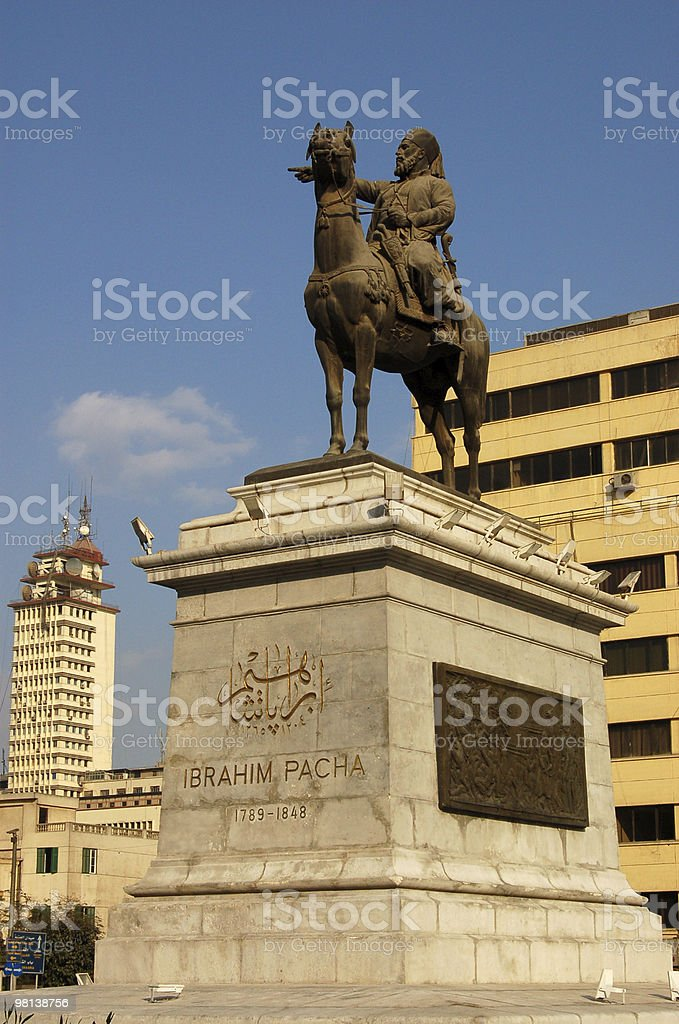 Ibrahim Pasha statue royalty-free stock photo