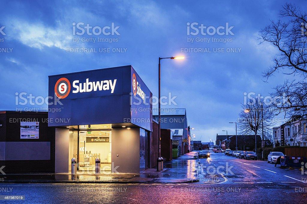 Ibrox Subway Station stock photo
