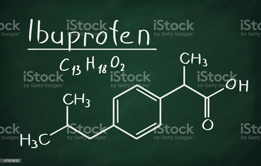 Ibuprofen stock photo