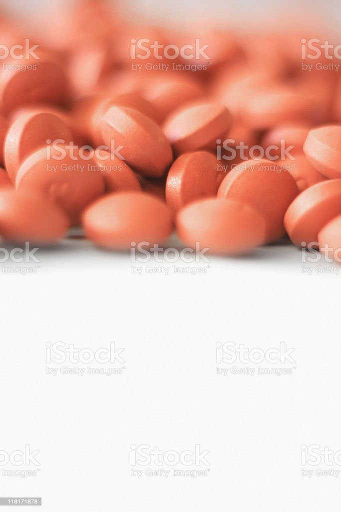 Ibuprofen Tabs - Closeup With Copyspace royalty-free stock photo