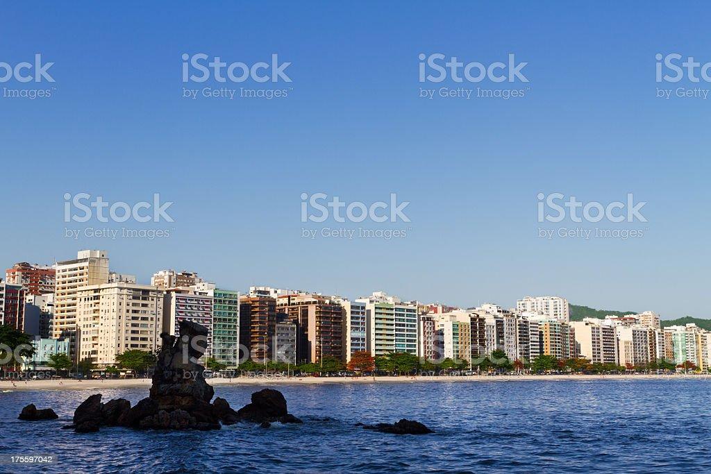 Icarai Beach in Niteroi city royalty-free stock photo