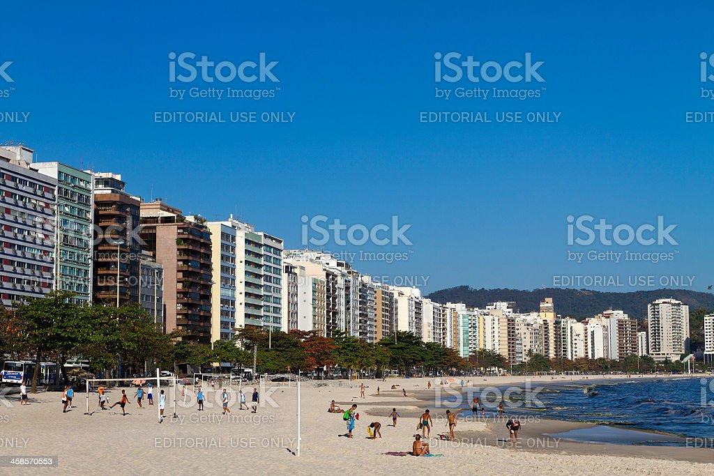 Icarai Beach in Niteroi - RJ royalty-free stock photo