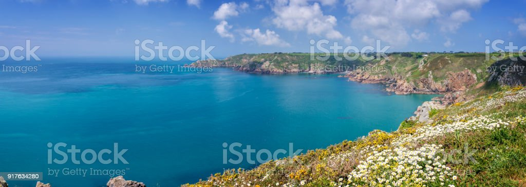 Icart Point Panorama, Guernsey – Foto