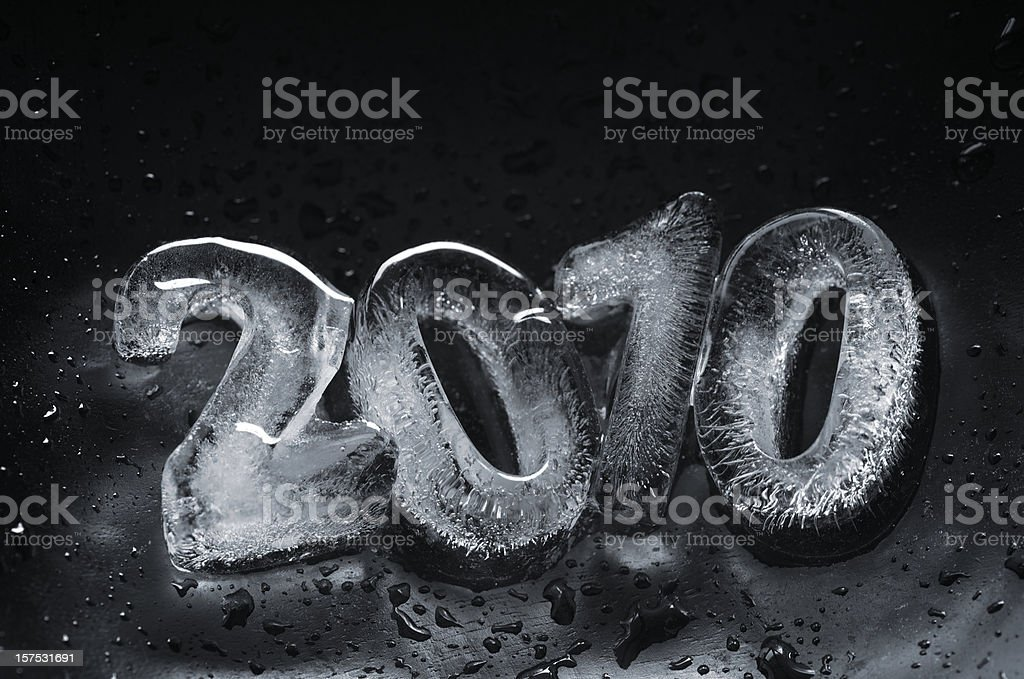 Ice 2010 on Black stock photo