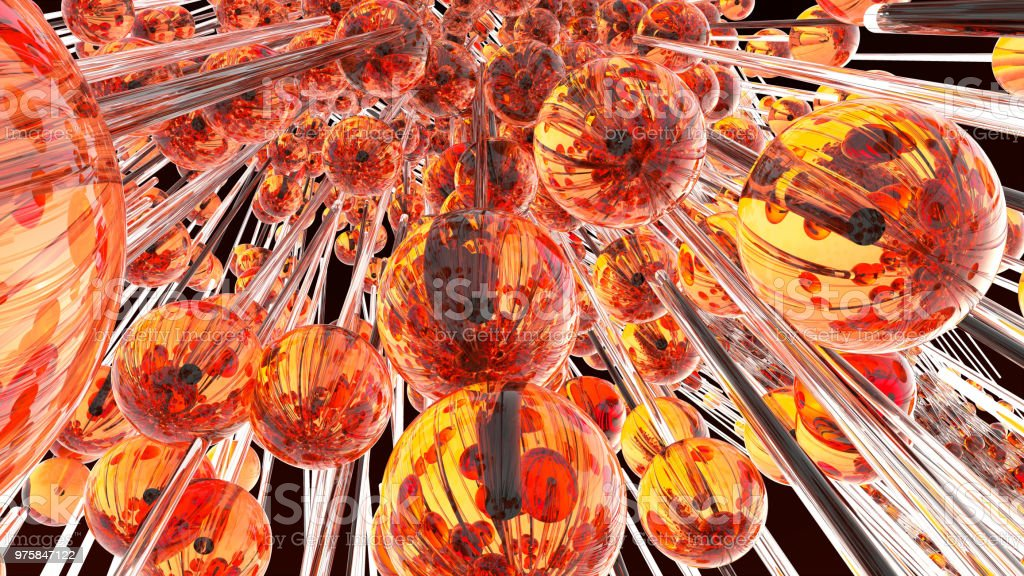 Abstrakte Kugeln Eis in Zeitlupe fliegen - Lizenzfrei Abbrechen Stock-Foto