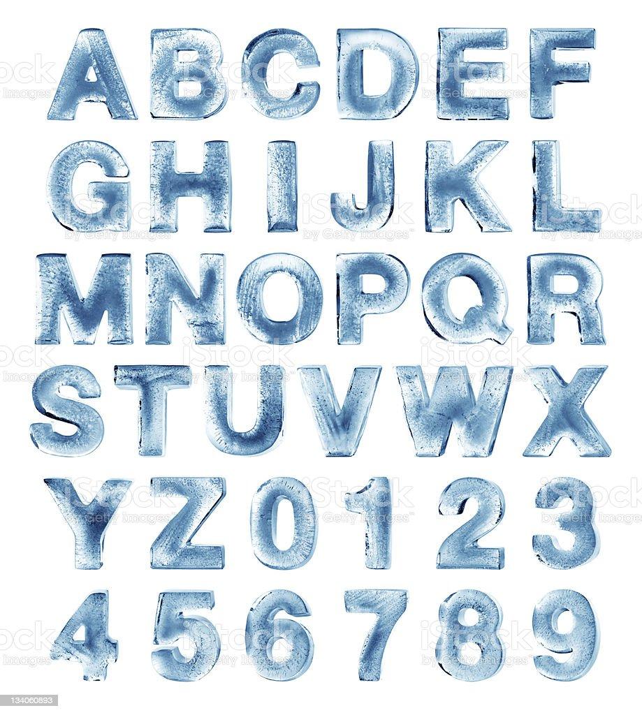 Alfabeto ghiaccio - Foto stock royalty-free di Alfabeto
