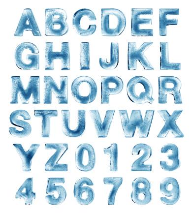 Alfabeto Ghiaccio - Fotografie stock e altre immagini di Alfabeto