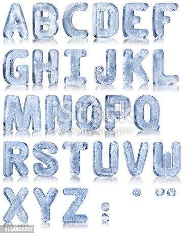 istock Ice alphabet 453083083