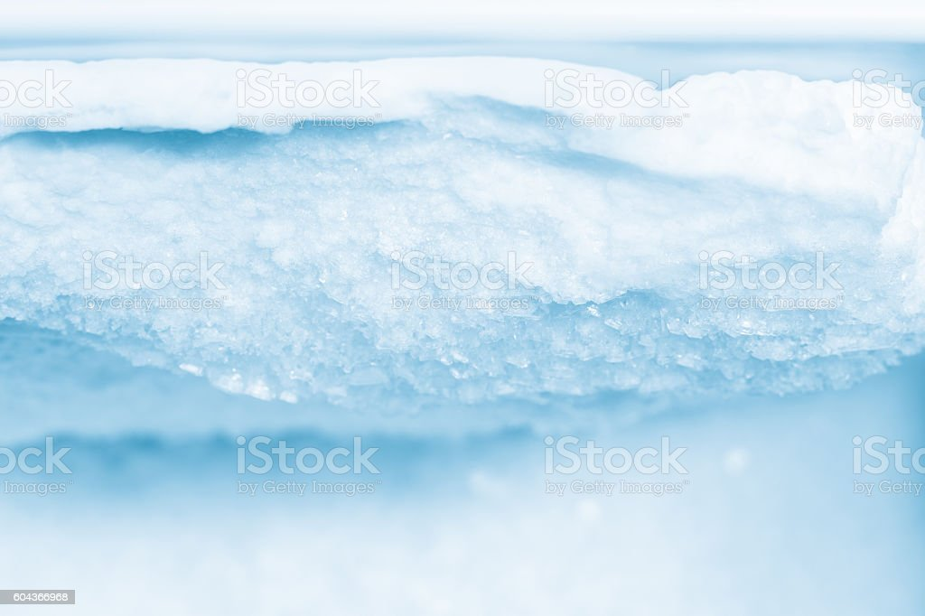 Ice and Frost Buildup Inside a Refrigerator Freezer stock photo