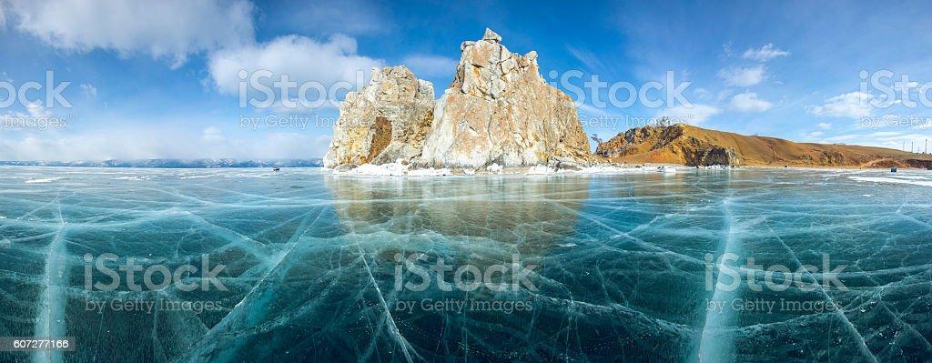 Ice and rocks of lake Baikal - Lizenzfrei Abstrakt Stock-Foto