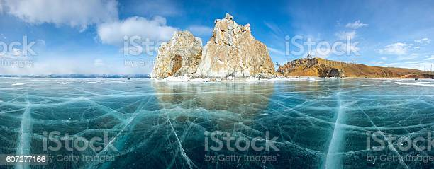 Ice And Rocks Of Lake Baikal Stockfoto und mehr Bilder von Abstrakt