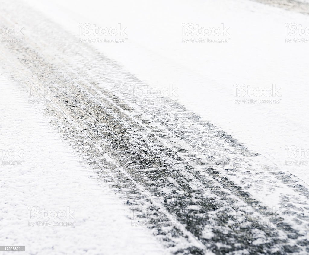 Ice and Snow on the Road royalty-free stock photo