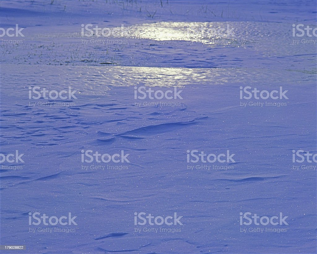 Ice and snow shining in the morning sun royalty-free stock photo