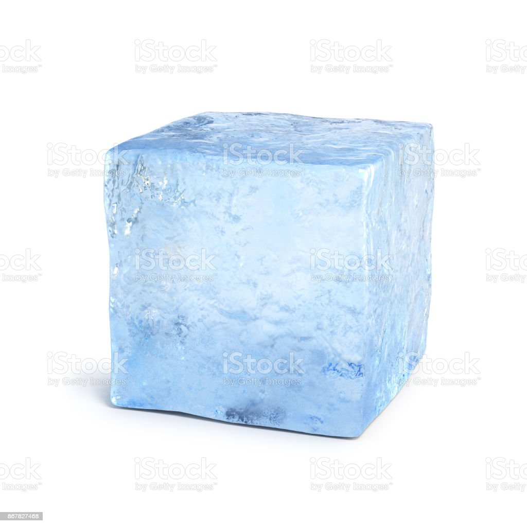Ice block 3d rendering stock photo