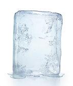 Ice block isolated on white
