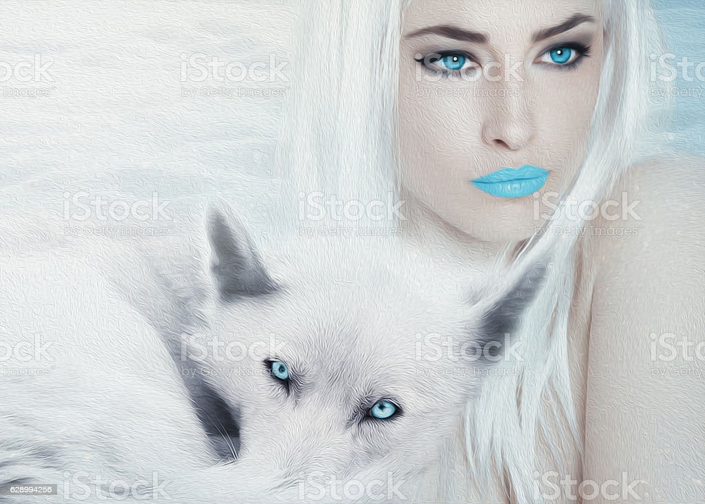 ice blue beauty stock photo