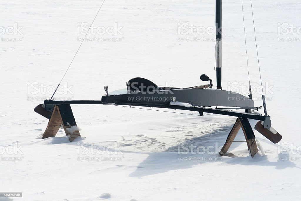 Ice boat close-up. royalty-free stock photo
