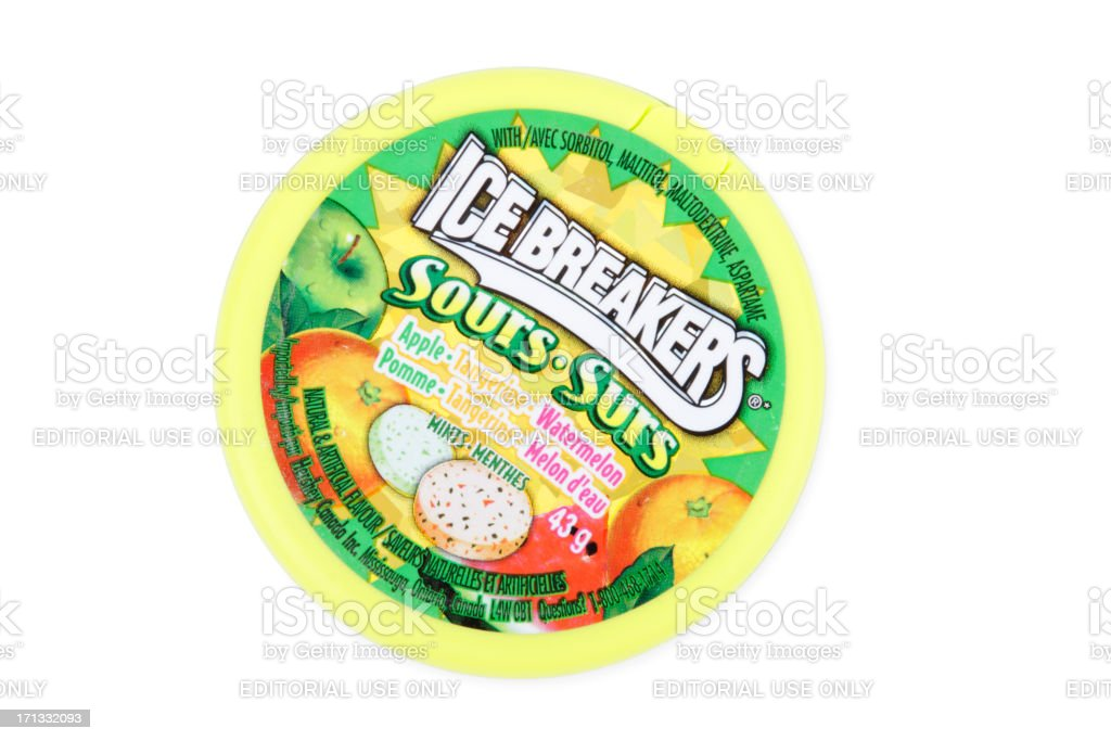 Ice Breakers Sours stock photo