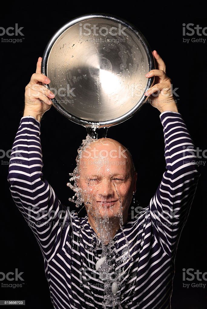 Ice Bucket Challenge stock photo