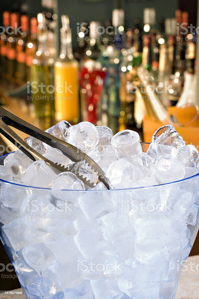 Ice Bucket In A Bar Setting royalty-free stock photo