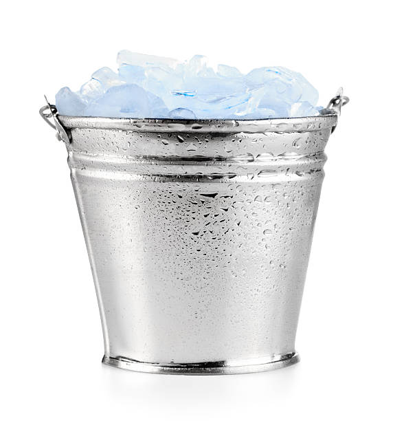 Ice bucket Ice bucket on white cooler container stock pictures, royalty-free photos & images