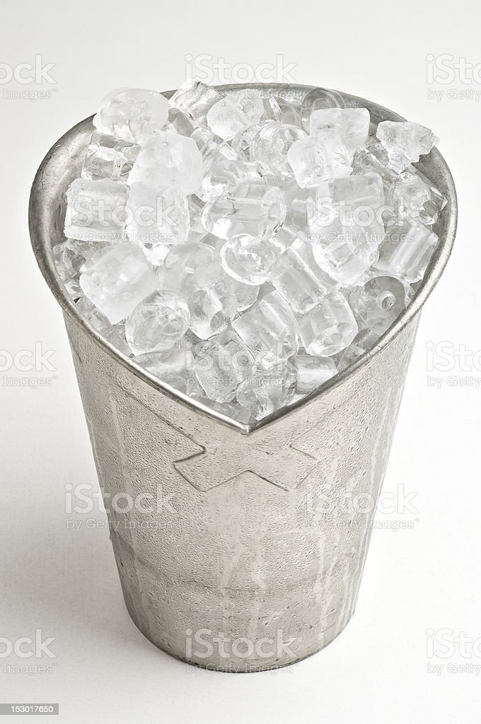 ice bucket with icecubes royalty-free stock photo