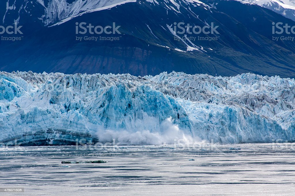 Ice Calving in Disenchantment Bay stock photo
