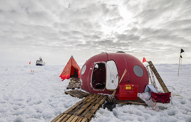 Ice camp of a polar research expedition - Photo