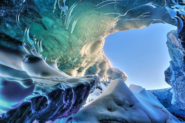 ice ケイヴディテール - アイスクライミング ストックフォトと画像