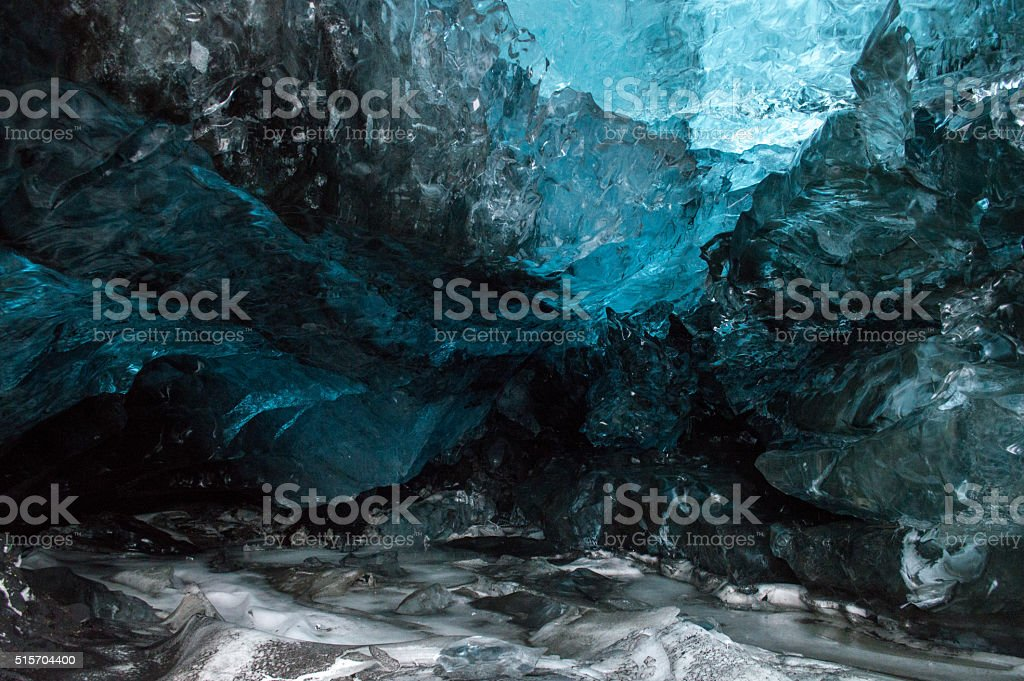 Ice Cave in Langjokull Glacier stock photo