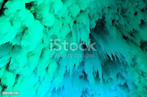 ice cave covered with snow