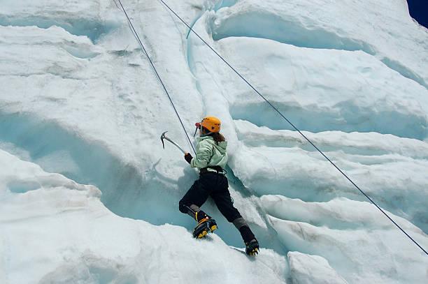 Ice Climber on Mount Baker, WA, July 13, 2008 stock photo
