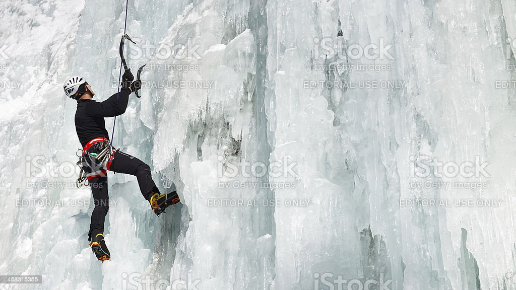 Ice Climbing in South Tyrol, Italy royalty-free stock photo