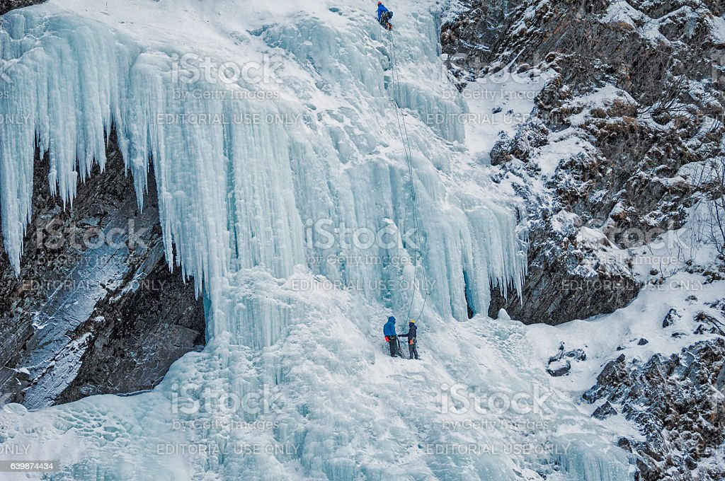 Ice Climbing – Valdez, Alaska stock photo