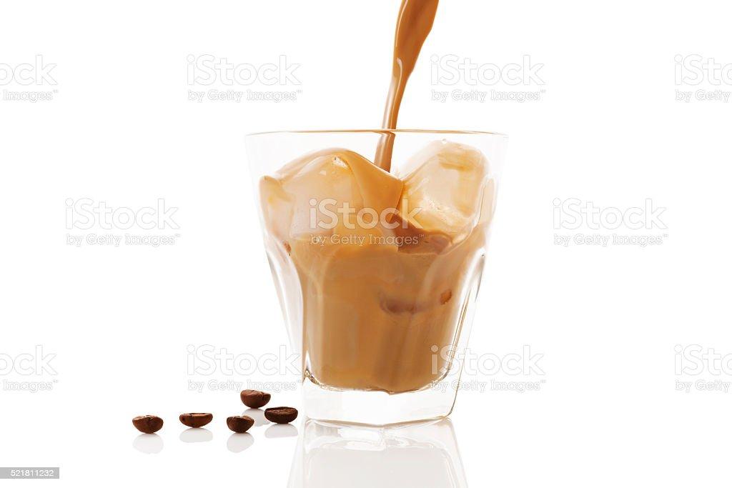 Ice coffee isolated. stock photo