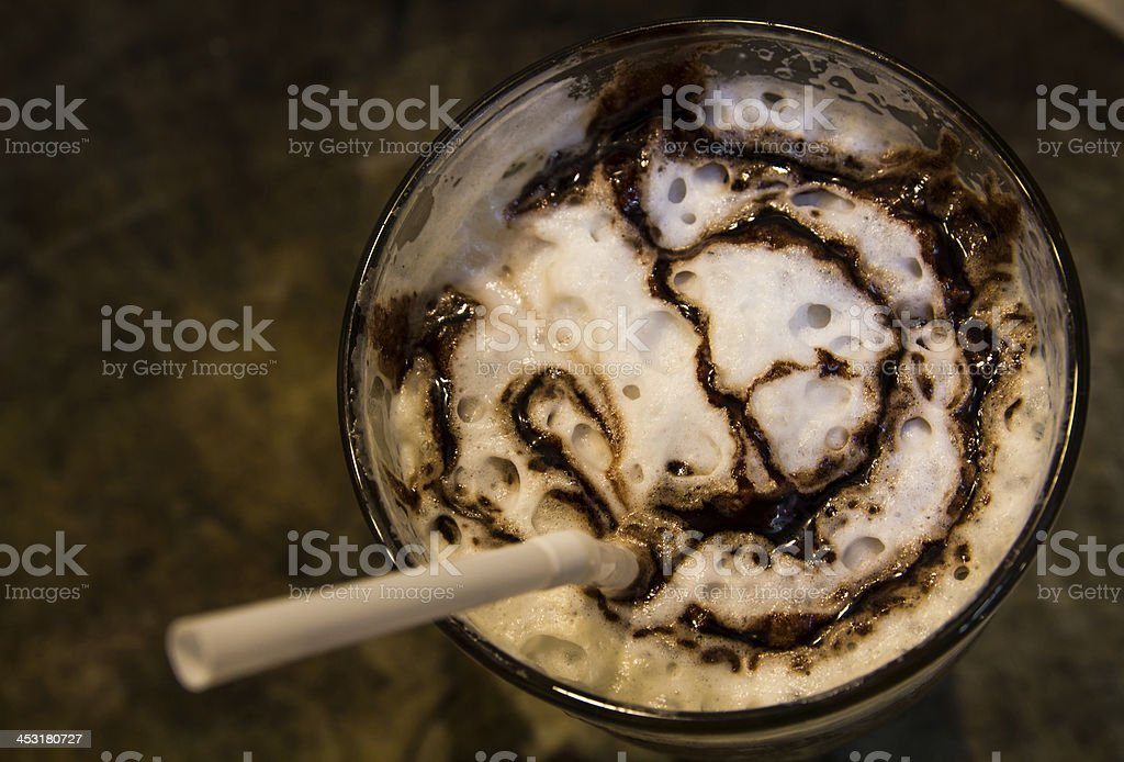 Ice coffee with caramel royalty-free stock photo