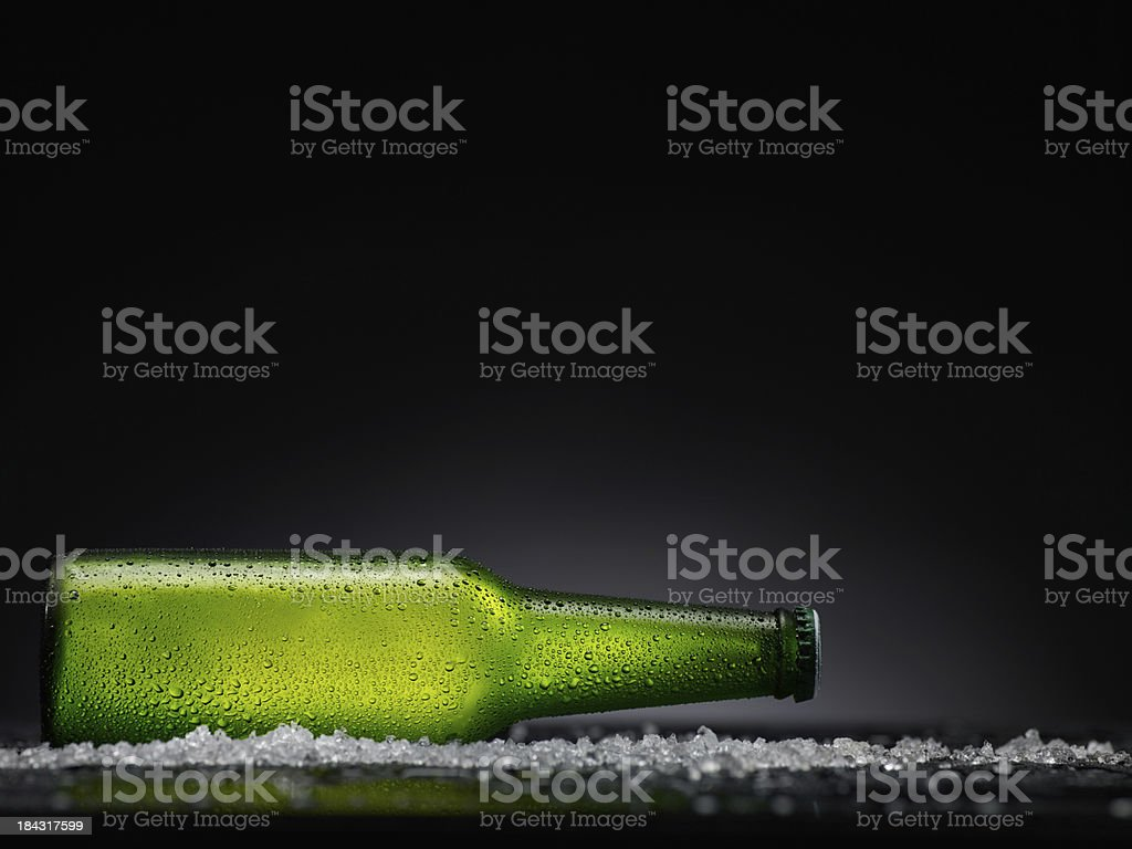 Ice cold  beer bottle royalty-free stock photo