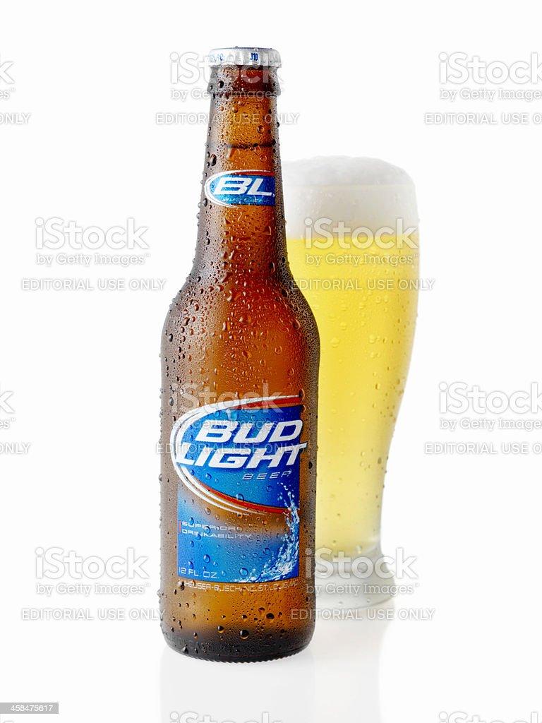 Ice Cold Bottle Of Bud Light Stock Photo