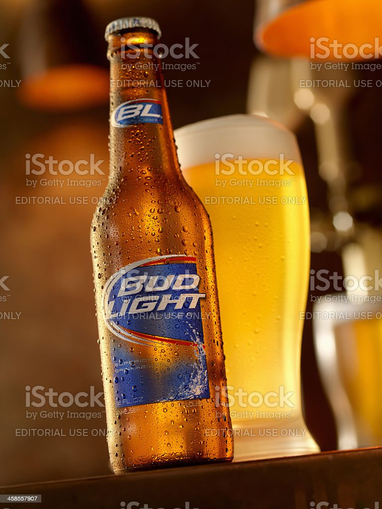 Ice Cold Bottle Of Bud Light Royalty Free Stock Photo
