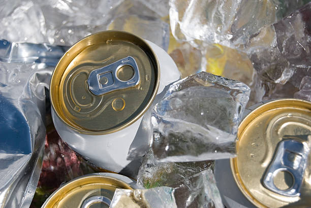 Ice Cold Cans stock photo