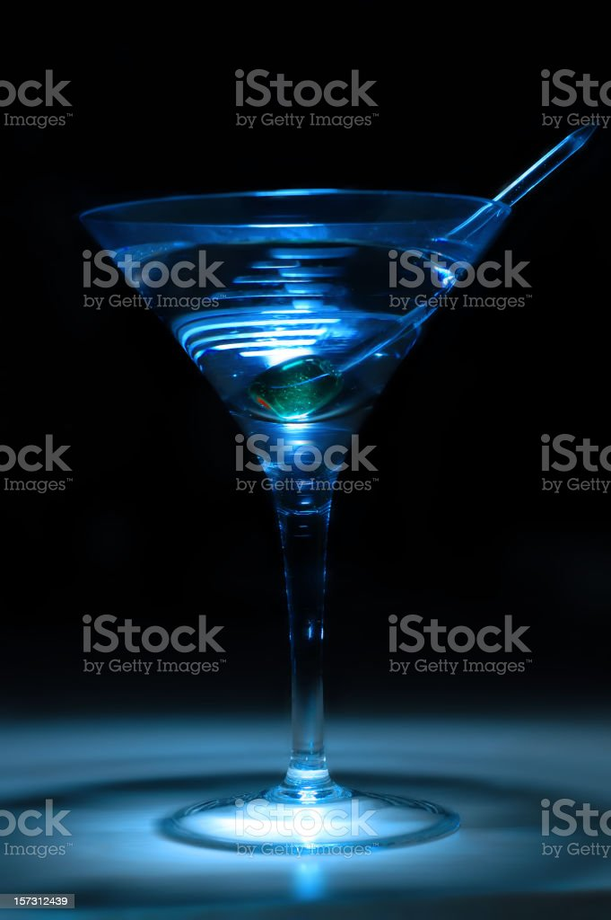 Ice cold martini under dramtic light royalty-free stock photo