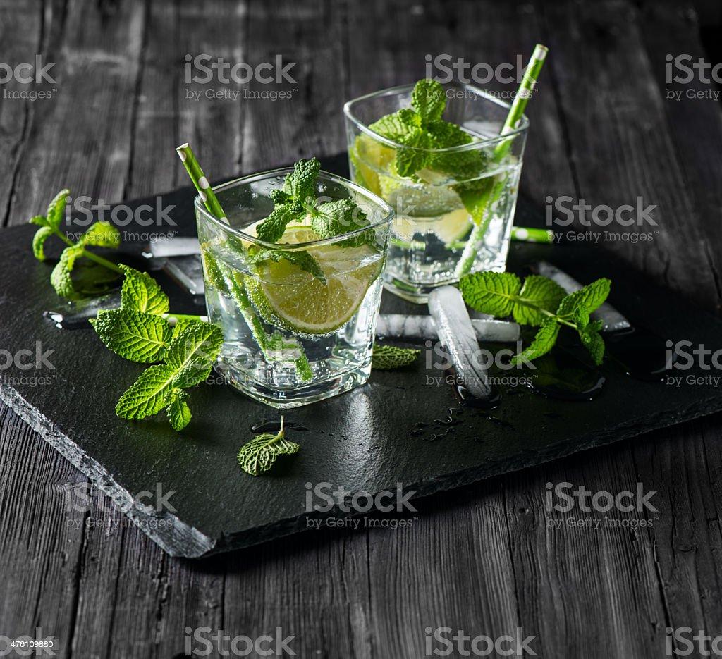 Ice cold Mojito stock photo
